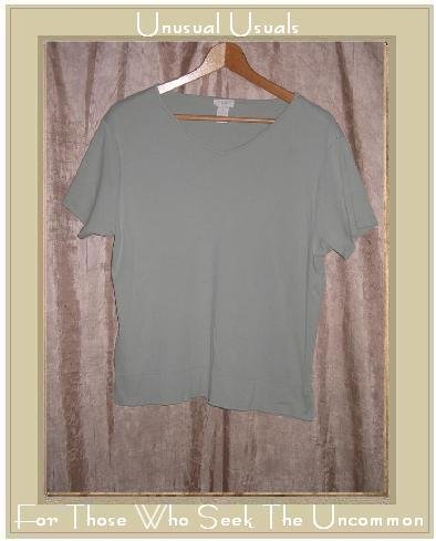J. Jill Soft Green Cotton Tee Shirt Top Medium M