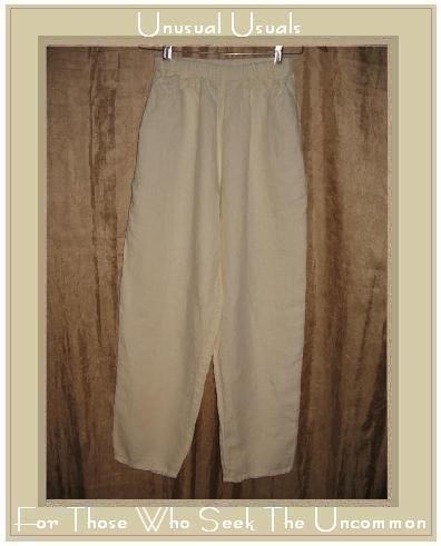 FLAX by Jeanne Engelhart White LINEN Pants Petite P