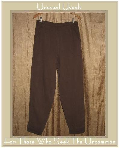 EILEEN FISHER Brown Tencel Slacks Pants Large L