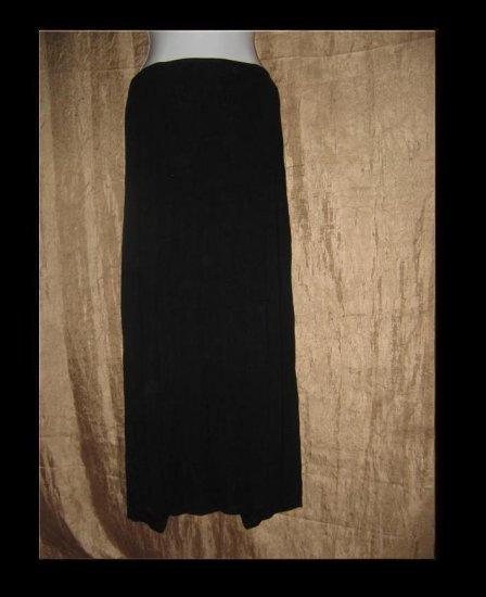 CLEA Long Soft Black Knit Skirt Engelhart Flax Large L