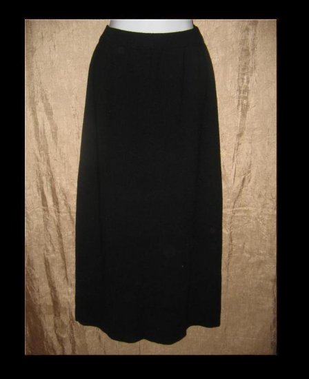 EILEEN FISHER Long Black Wool Skirt Small S