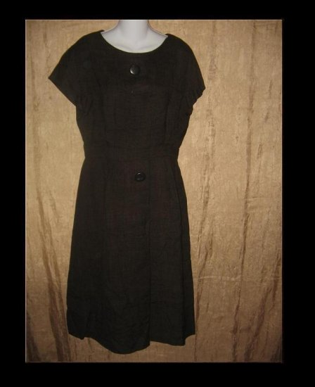 ADELE SIMPSON Vintage Brown Shapely Tunic Dress 60's Medium M