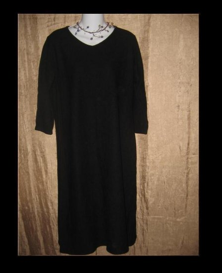J. Jill Black Wool Knit Tunic Dress Medium Petite MP