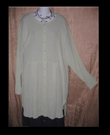 Jeanne Engelhart FLAX Gingham Tunic Dress Medium M