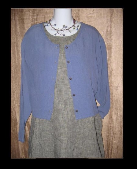 R-Clan FLAX by Jeanne Engelhart Cropped Top Shirt Medium M