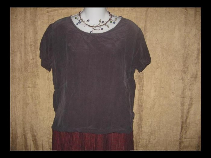 CUT LOOSE Deep Purple Pullover Shirt Top Small S
