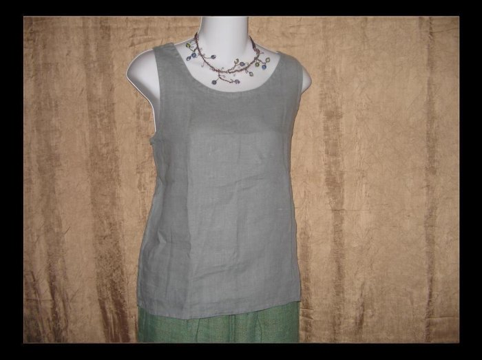 J. Jill Blue Gray Linen Tank Top Shirt Small S