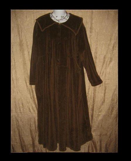 Angelheart Design by Jeanne Engelhart Flax Velour Dress SMALL S