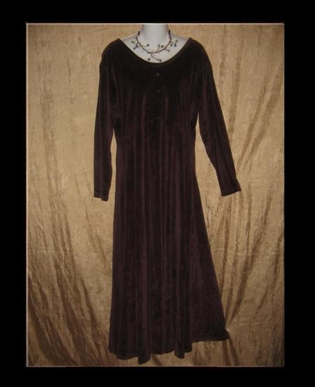 Angelheart Designs by Jeanne Engelheart Velour Dress Medium M