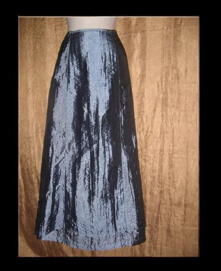 FREE PEOPLE Shimmering Blue Apron Skirt Small Medium S M