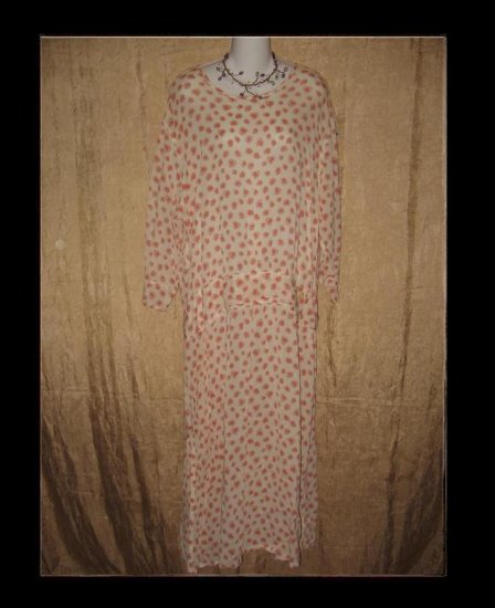 FLAX Pink Petal Twenties Theme Dress Jeanne Engelhart Medium M