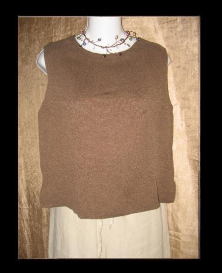 CUT LOOSE Soft Brown Knit Tank Top Shirt Medium M