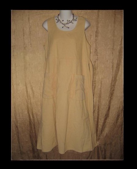 FLAX by Jeanne Engelhart Buttery COTTON Corduroy Dress SMALL S