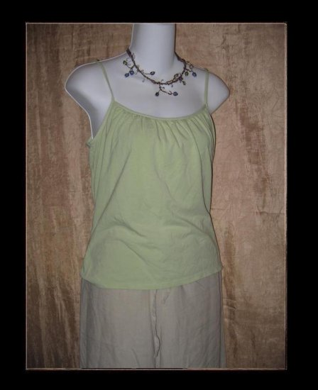 J. Jill Soft Green Knit Pullover Shirt Tank Top Medium M