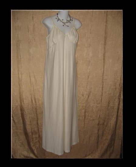 CLEA Slinky Cream Knit Slip Dress Engelhart Flax Large L