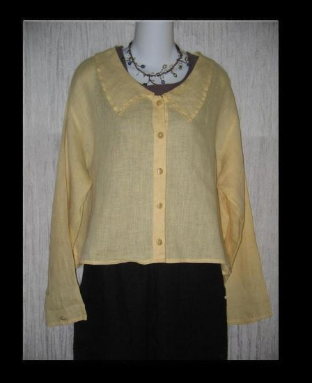 FLAX by Jeanne Engelhart Butter City Middy Button Shirt Top Medium M