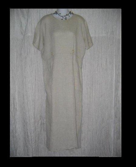 FLAX by Jeanne Engelhart Natural LINEN Sailor Dress Small S