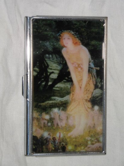 Edward Robert Hughes Midsummer Eve Business Credit Card ID Cash Case Slim Metal Wallet