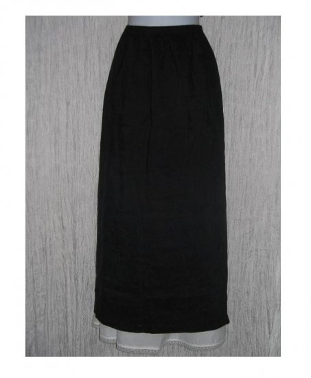 PATINA Boutique Long Black Textured Skirt Large L