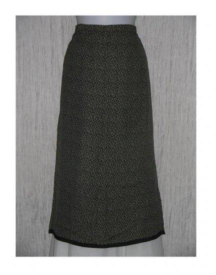 K.d. Spring Calf Length Black & White Rayon Skirt Large L