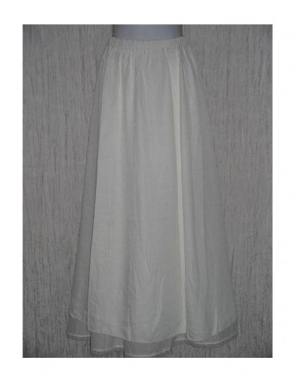 New Jackie Loves John Long Slinky White Skirt Size 1 S M