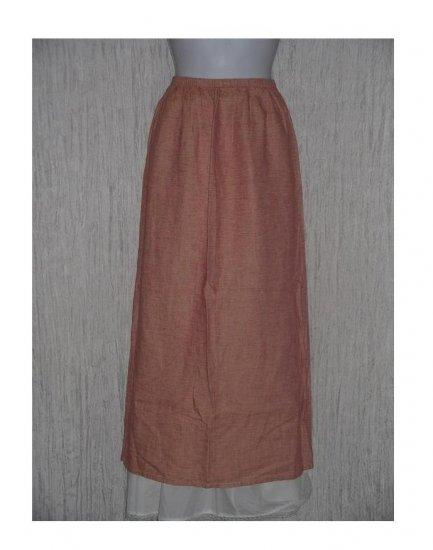 New Jackie Loves John Long Linen & Silk Skirt Medium M