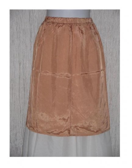 New Yellin NY Short Slinky Peach Acetate Skirt One Size OS