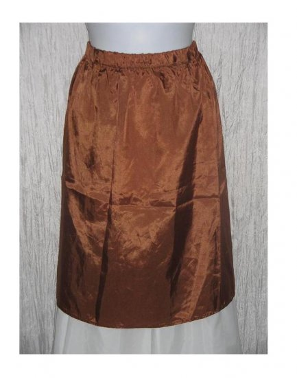 New Yellin NY Short Slinky Bronze Acetate Skirt One Size OS