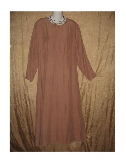 YELLIN NY Long Mauve Silk Pullover Dress Medium M