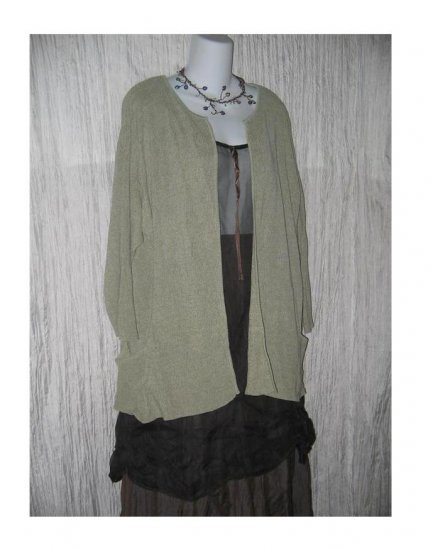 Coldwater Creek Silk Lagenlook Open Cardigan Sweater X-Large XL