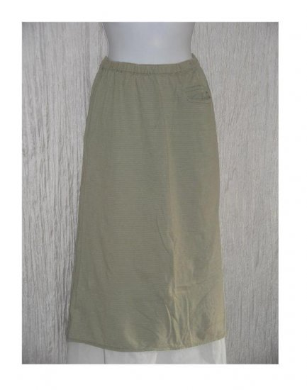 Angelheart Designs by Jeanne Engelhart FLAX Striped Knit Skirt Small S