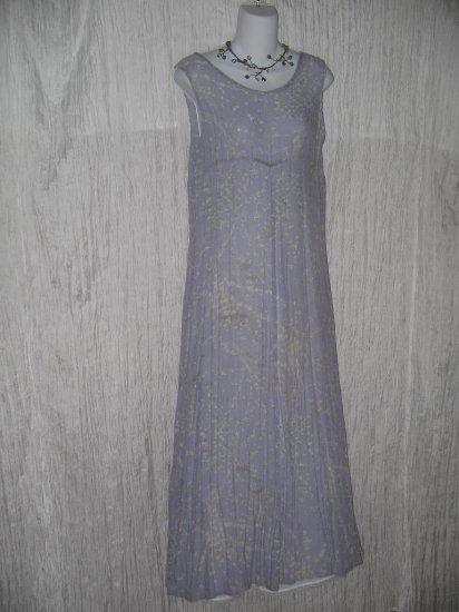 FLAX by Jeanne Engelhart Lavender Boughs Summer Breeze Dress Small S