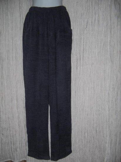 CP Shades Long Purple Rayon Linen Chenille Pants Large L