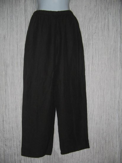River Road Deep Earthy Brown Rayon Cotton Linen Pants Trousers Medium M
