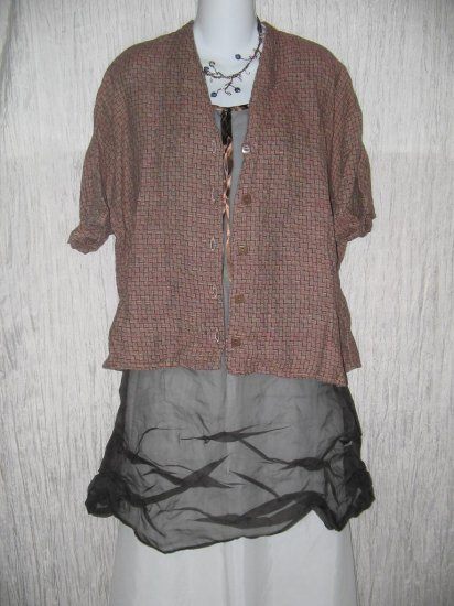 FLAX by Jeanne Engelhart Linen Button Shirt Top 1 Generous G