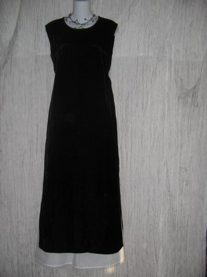 Angelheart Design by Jeanne Engelhart Flax Long Black Velvet Dress Small S