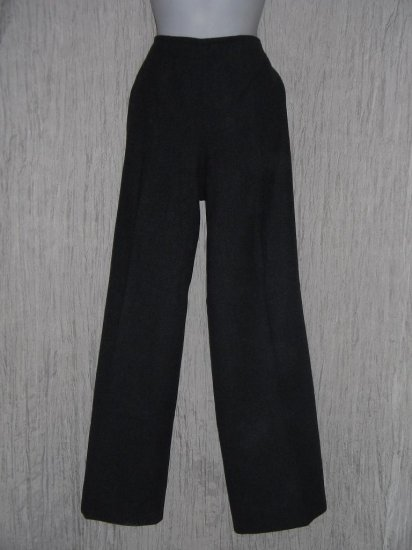 Pendleton Shapely Charcoal Gray Wool Wide Leg Trouser Pants 16