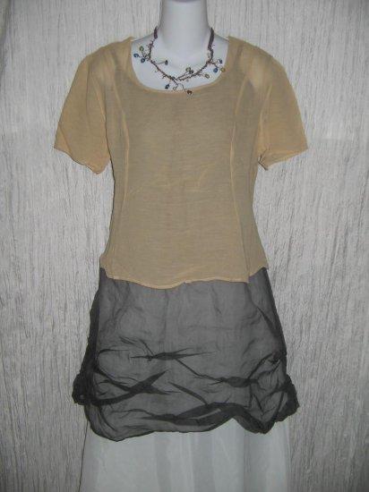GIORGIO ARMANI Nude Silk Shapely Button Back Blouse Shirt 44 10