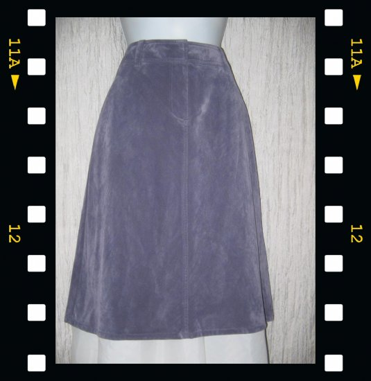 New J. Jill Velvety Soft Shapely Purple Corduroy Skirt 12