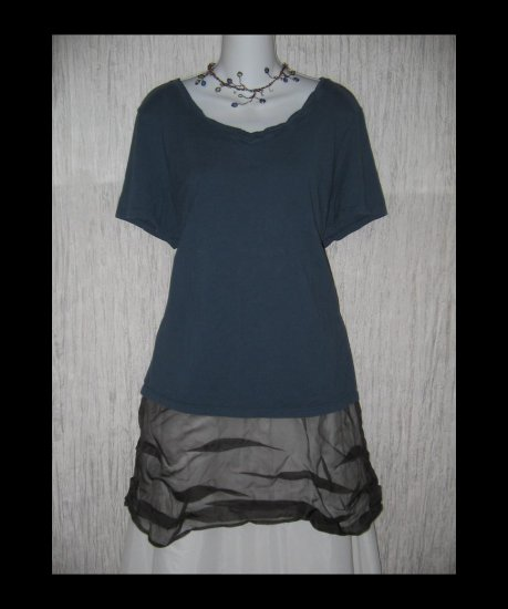 New J. JILL Blue Heirloom Wash Tee Pullover Shirt Top 2X