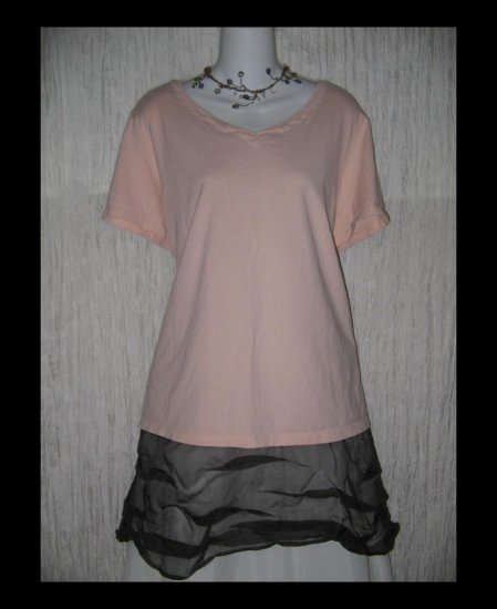 New J. JILL Pink Heirloom Wash Tee Pullover Shirt Top 2X