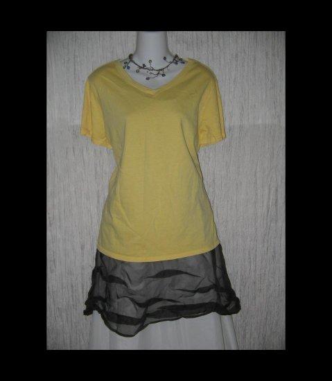 New J. JILL Soft Yellow Cotton Knit Pullover Shirt Top X-Large XL