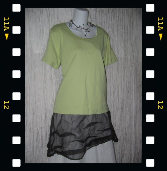 J. JILL Soft Green Cotton Knit Pullover Shirt Top X-Large XL