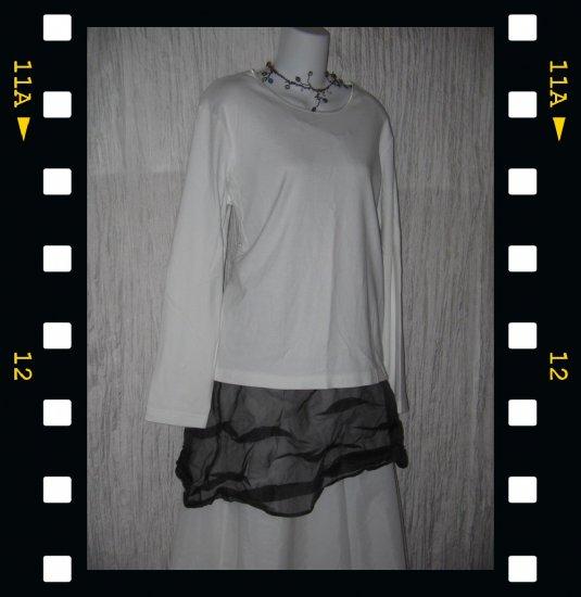 J. JILL Soft White Cotton Knit Pullover Shirt Top X-Large XL