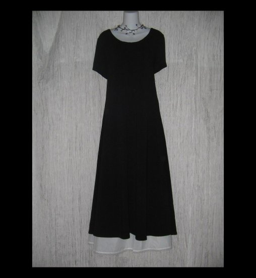 New J. Jill Long Shapely Black Slinky Knit Dress X-Large Tall XLT