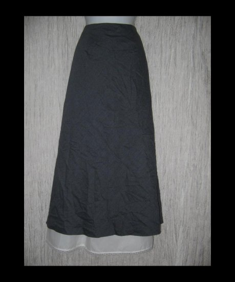 Chadwick's Long & Full Lined Shapely Gray Wool Skirt 18W