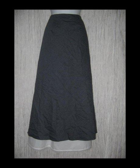 Chadwick's Long & Full Lined Shapely Gray Wool Skirt 18W
