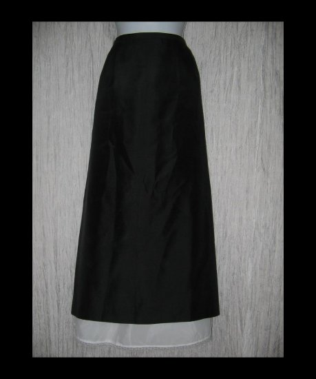 Talbots Elegant Long Lined Shapely Black Silk Skirt 20W