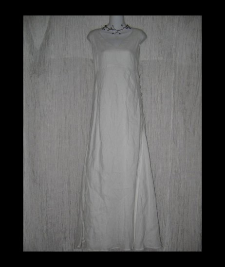 NWT Banana Republic Elegant Long White Linen Dress 12