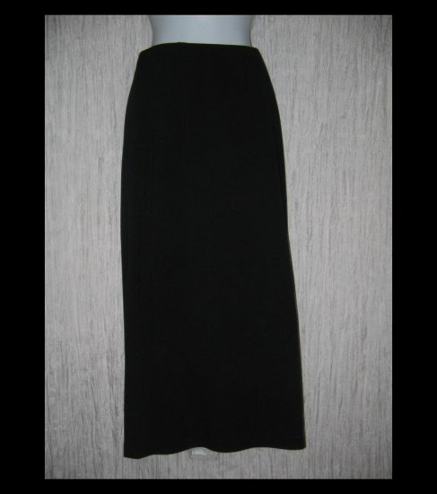 Eileen Fisher Long Shapely Black Rayon Wool Skirt Large L
